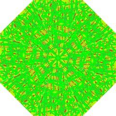Neon green pattern Golf Umbrellas
