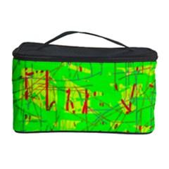 Neon green pattern Cosmetic Storage Case