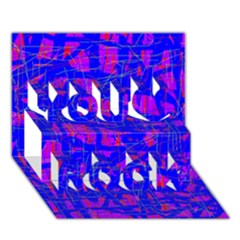Blue pattern You Rock 3D Greeting Card (7x5)