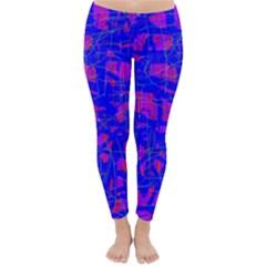 Blue pattern Winter Leggings
