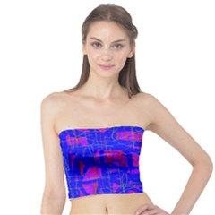 Blue pattern Tube Top