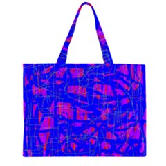 Blue pattern Large Tote Bag