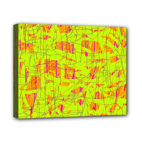 yellow and orange pattern Canvas 10  x 8