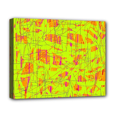 yellow and orange pattern Deluxe Canvas 20  x 16