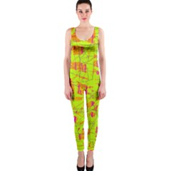 yellow and orange pattern OnePiece Catsuit