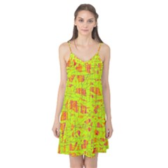 yellow and orange pattern Camis Nightgown