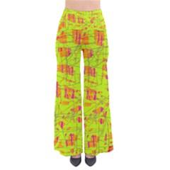 yellow and orange pattern Pants
