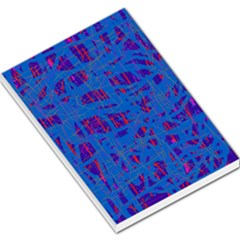 Deep blue pattern Large Memo Pads