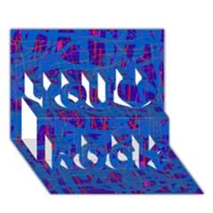 Deep blue pattern You Rock 3D Greeting Card (7x5)
