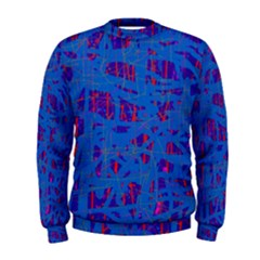 Deep blue pattern Men s Sweatshirt