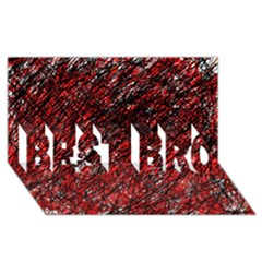 Red and black pattern BEST BRO 3D Greeting Card (8x4)