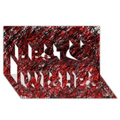 Red and black pattern Best Wish 3D Greeting Card (8x4)