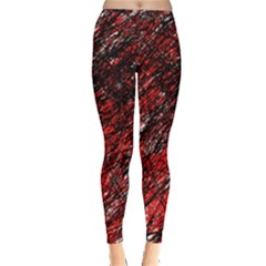 Red and black pattern Leggings
