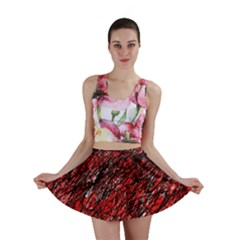 Red and black pattern Mini Skirt