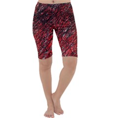 Red and black pattern Cropped Leggings