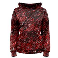 Red and black pattern Women s Pullover Hoodie
