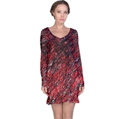 Red and black pattern Long Sleeve Nightdress