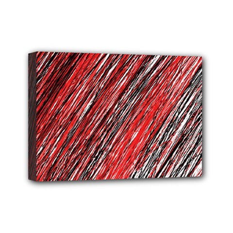 Red and black elegant pattern Mini Canvas 7  x 5