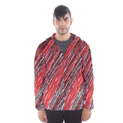 Red and black elegant pattern Hooded Wind Breaker (Men)