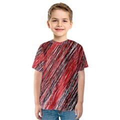 Red and black elegant pattern Kid s Sport Mesh Tee