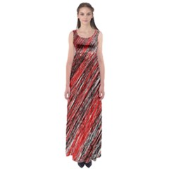 Red and black elegant pattern Empire Waist Maxi Dress