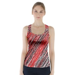 Red and black elegant pattern Racer Back Sports Top