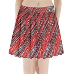 Red and black elegant pattern Pleated Mini Mesh Skirt