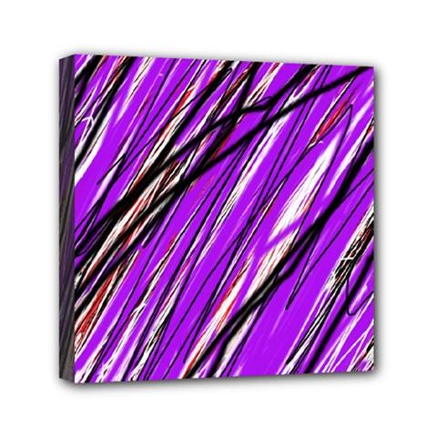 Purple Pattern Mini Canvas 6  X 6