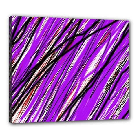Purple pattern Canvas 24  x 20