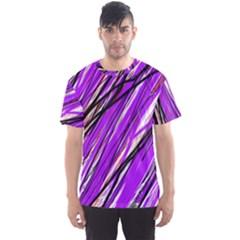 Purple pattern Men s Sport Mesh Tee