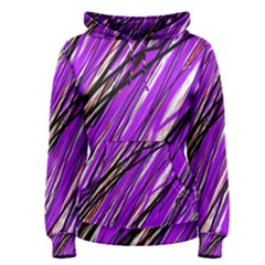 Purple pattern Women s Pullover Hoodie