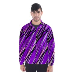 Purple pattern Wind Breaker (Men)