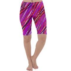 Purple pattern Cropped Leggings