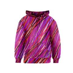 Purple pattern Kids  Zipper Hoodie