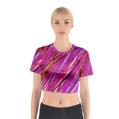 Purple Pattern Cotton Crop Top