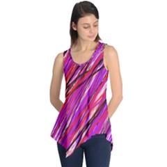 Purple pattern Sleeveless Tunic