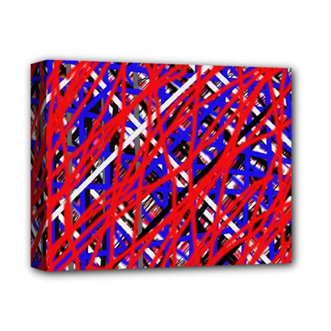 Red and blue pattern Deluxe Canvas 14  x 11