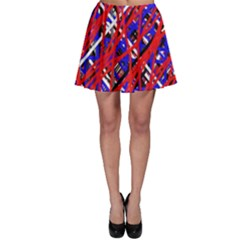 Red and blue pattern Skater Skirt