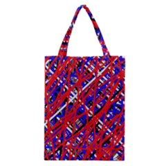 Red and blue pattern Classic Tote Bag