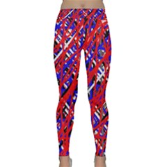 Red and blue pattern Yoga Leggings