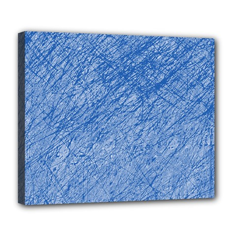 Blue pattern Deluxe Canvas 24  x 20