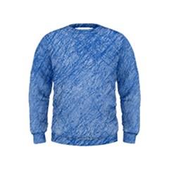 Blue Pattern Kids  Sweatshirt