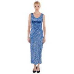 Blue pattern Fitted Maxi Dress