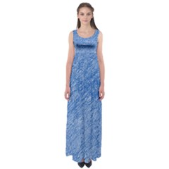 Blue pattern Empire Waist Maxi Dress