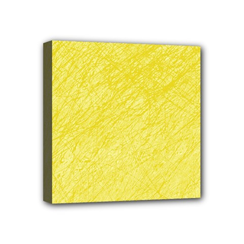 Yellow pattern Mini Canvas 4  x 4