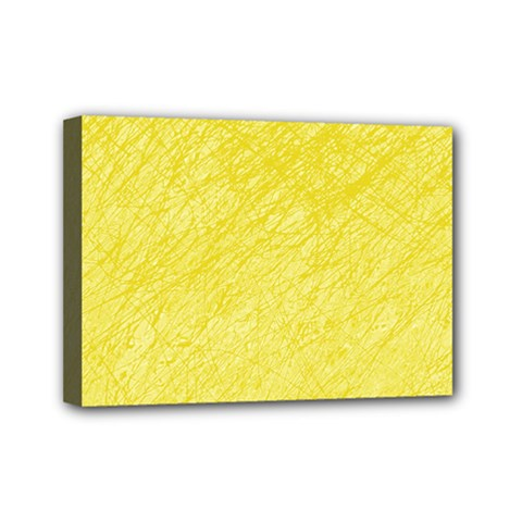 Yellow pattern Mini Canvas 7  x 5