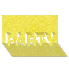 Yellow pattern PARTY 3D Greeting Card (8x4)