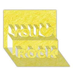 Yellow pattern You Rock 3D Greeting Card (7x5)