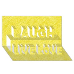Yellow pattern Laugh Live Love 3D Greeting Card (8x4)