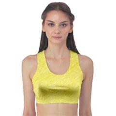 Yellow pattern Sports Bra